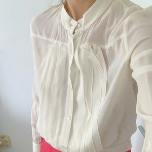 Theory silk blouse